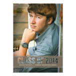 Contemporary Class of 2014 Photo Graduation Party Custom Announcements