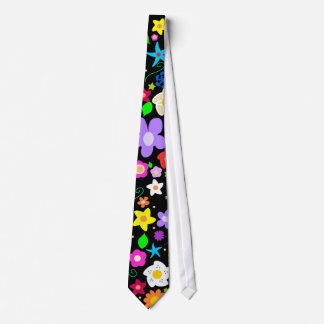 Contemporary Colorful Floral pattern Tie
