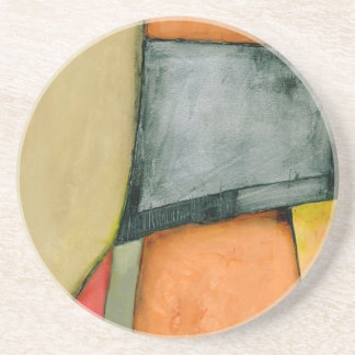 Contemporary Colorful Geometric Shapes Coaster