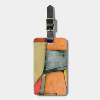 Contemporary Colorful Geometric Shapes Luggage Tag