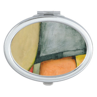 Contemporary Colorful Geometric Shapes Mirror For Makeup