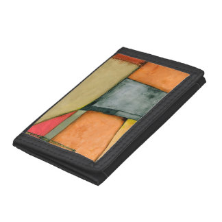 Contemporary Colorful Geometric Shapes Trifold Wallet