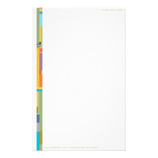 Contemporary Colour Field Personalizable Stationery