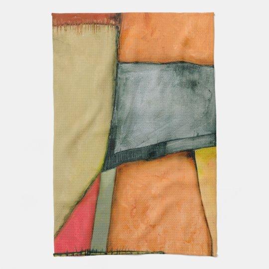 Contemporary Colourful Geometric Shapes Tea Towel