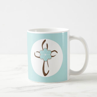 Contemporary Cross Basic White Mug