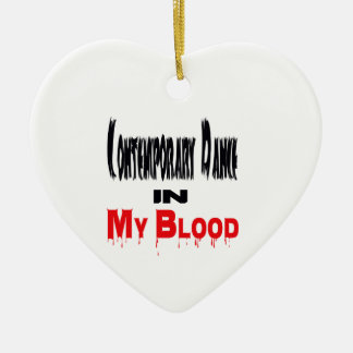 Contemporary Dance In Blood Ceramic Heart Decoration