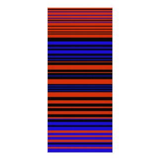 Contemporary dark red blue and black stripes rack cards