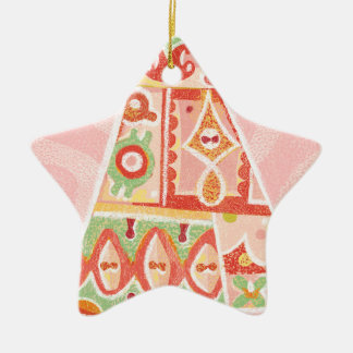 Contemporary Decorative Christmas Tree Ceramic Star Decoration
