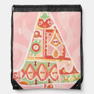 Contemporary Decorative Christmas Tree Cinch Bag