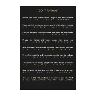 Contemporary Do It Anyway Canvas Print