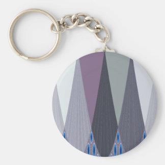 Contemporary Eastaern Design Basic Round Button Keychain