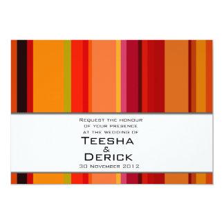 Contemporary elegant wedding invitation card by Ka