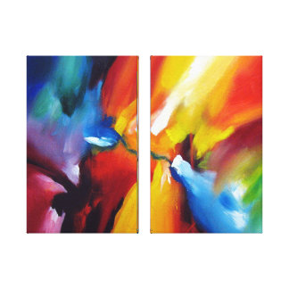 Contemporary Expressionist Abstract Painting Canvas Print