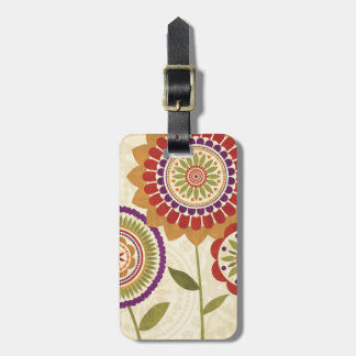 Contemporary Fall Flowers Luggage Tag