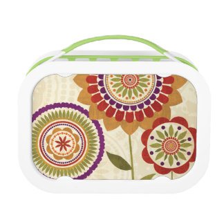 Contemporary Fall Flowers Lunch Box