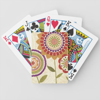 Contemporary Fall Flowers Poker Deck