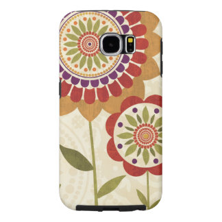 Contemporary Fall Flowers Samsung Galaxy S6 Cases