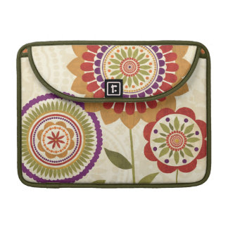 Contemporary Fall Flowers Sleeve For MacBook Pro