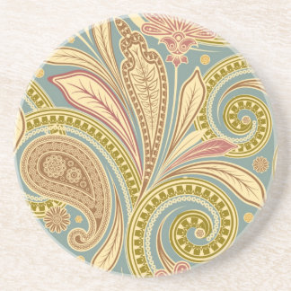 Contemporary floral pattern coaster