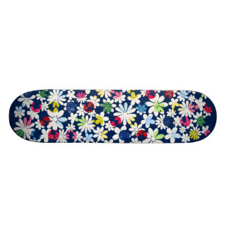 Contemporary Floral Pattern Skate Deck
