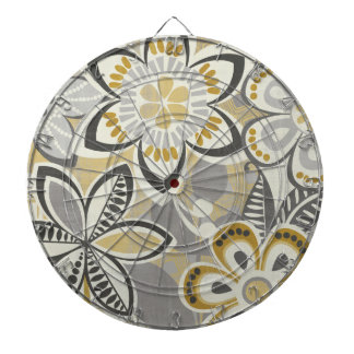 Contemporary Floral Patterns Dartboard