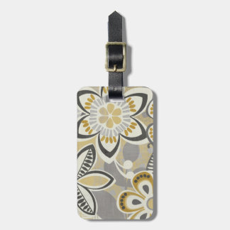Contemporary Floral Patterns Luggage Tag