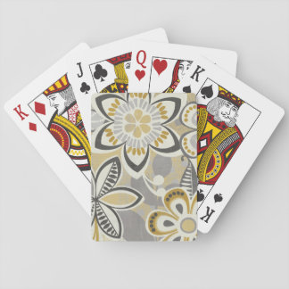 Contemporary Floral Patterns Poker Deck