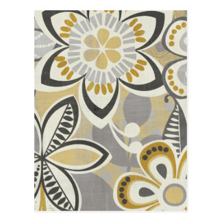 Contemporary Floral Patterns Postcard