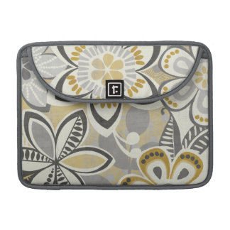 Contemporary Floral Patterns Sleeve For MacBooks