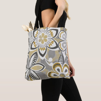 Contemporary Floral Patterns Tote Bag