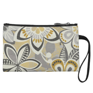 Contemporary Floral Patterns Wristlet