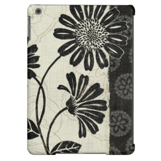 Contemporary Florals in Black and White Cover For iPad Air