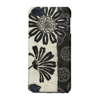 Contemporary Florals in Black and White iPod Touch (5th Generation) Covers