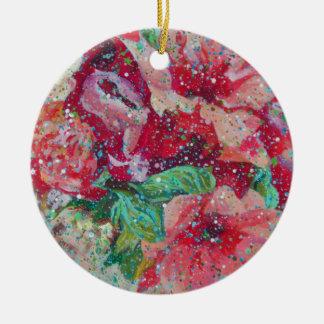 Contemporary Flowerz Christmas Tree Ornament