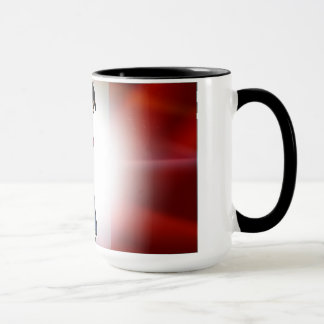Contemporary French flag & cartoon character mug