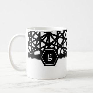 Contemporary, Geometric, Black Coffee Mug