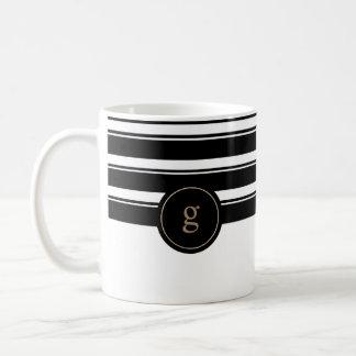 Contemporary Gold and Black Coffee Mug