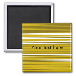 Contemporary gold and white stripes fridge magnets