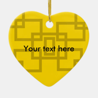 Contemporary gold squares on yellow ornament