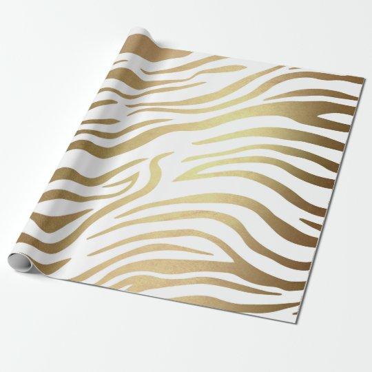 Contemporary Golden Zebra White Safari Skin Vip Wrapping