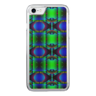 Contemporary Green Blue Pattern Carved iPhone 8/7 Case