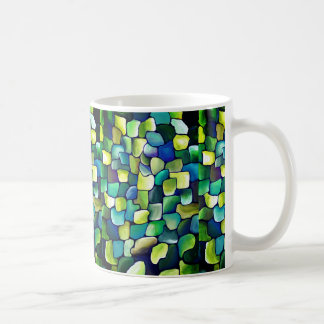 Contemporary Green Pattern Coffee Mug