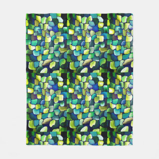 Contemporary Green Pattern Fleece Blanket
