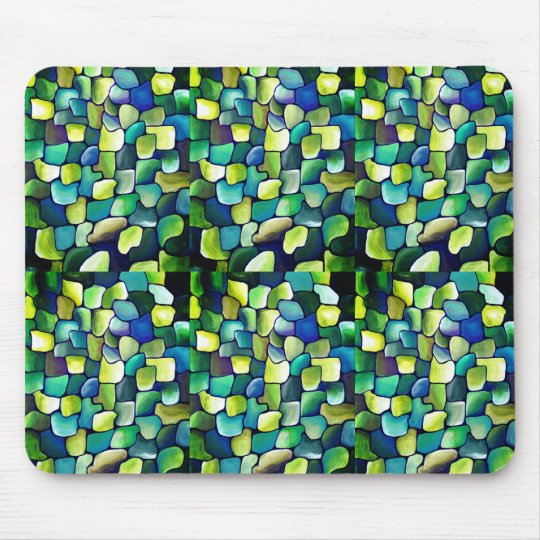 Contemporary Green Pattern Mouse Mat
