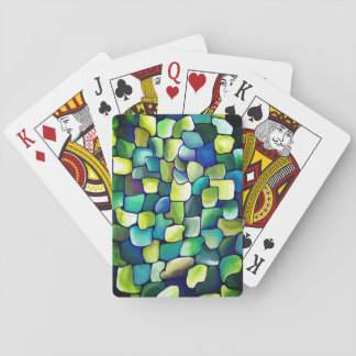Contemporary Green Pattern Playing Cards