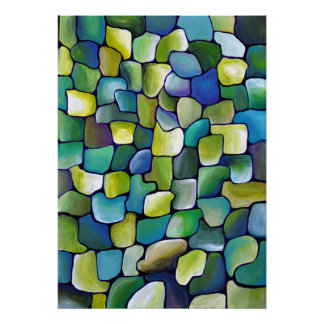 Contemporary Green Pattern Poster