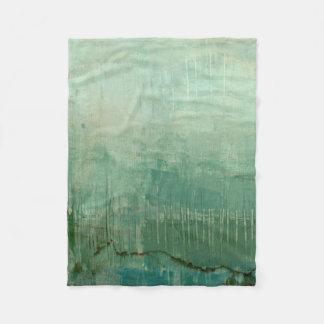 Contemporary Green Watercolor Fleece Blanket