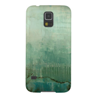 Contemporary Green Watercolor Galaxy S5 Covers