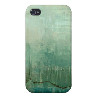 Contemporary Green Watercolor iPhone 4 Covers
