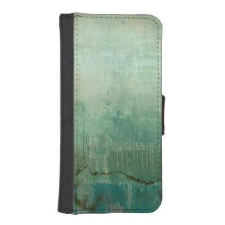 Contemporary Green Watercolor iPhone SE/5/5s Wallet Case